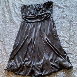 Derek heart metallic strapless dress